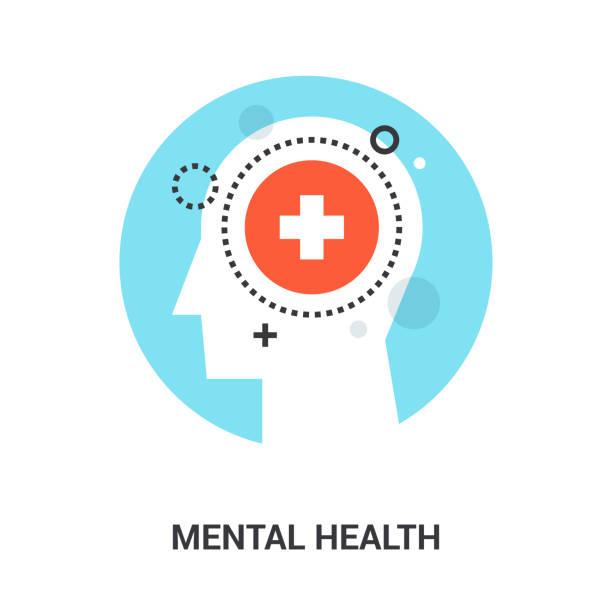 stockillustraties, clipart, cartoons en iconen met begrip van de geestelijke gezondheid - geestelijke gezondheid