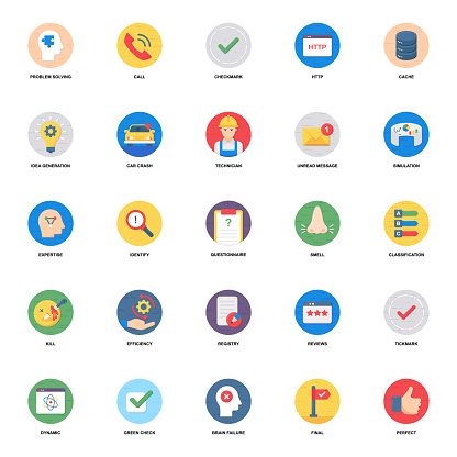 Mental Health Flat Icons Pack