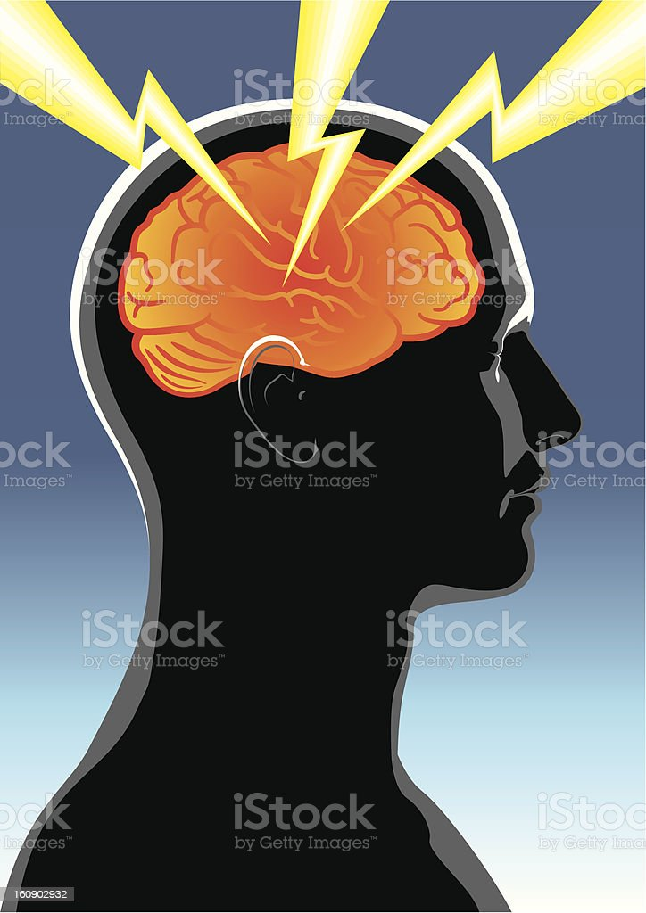 Mental health. Headache royalty-free stock vector art