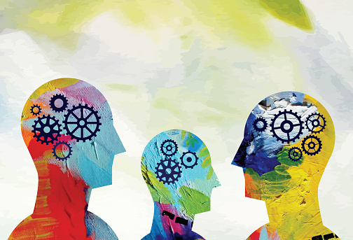 Mental Health Heads Concept