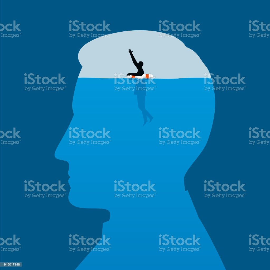 Mental Health Illustration vector art illustration