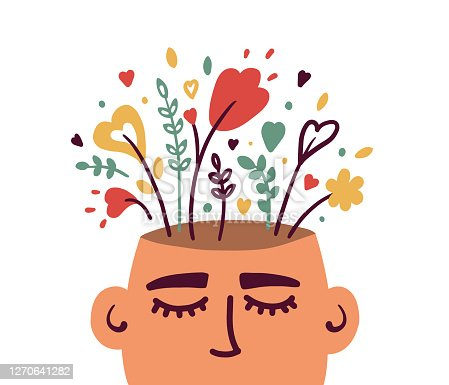 istock Mental health or psychology concept with flowering human head 1270641282