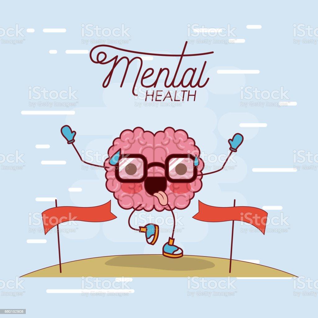 Ilustración De Cartel De La Salud Mental Del Cerebro De