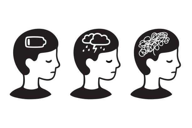 stockillustraties, clipart, cartoons en iconen met psychische problemen bij kinderen - psychische aandoening