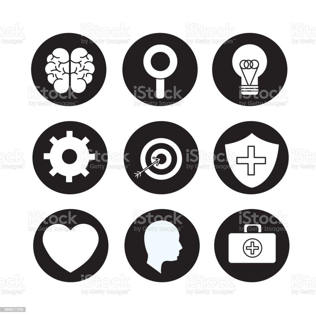 Mental Health Brain Art Stock Vector Art More Images Of Brain