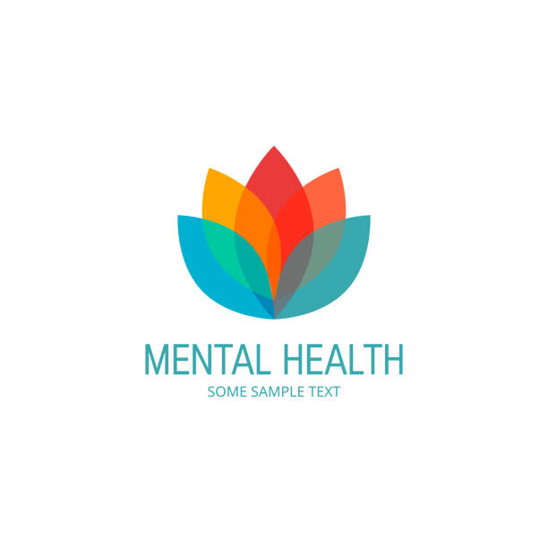 mental health vector concept in simple flat style - wellness stock illustrations