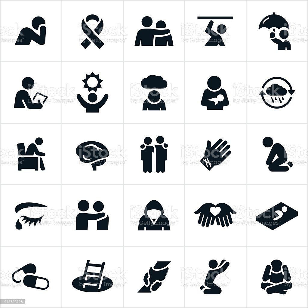 Mental Illness Icons – Vektorgrafik