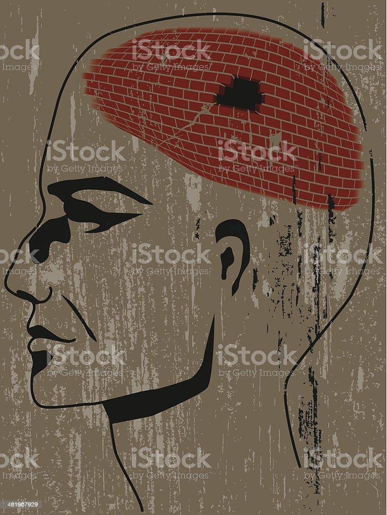 Mental illness royalty-free stock vector art