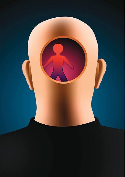 Mental intruder vector art illustration