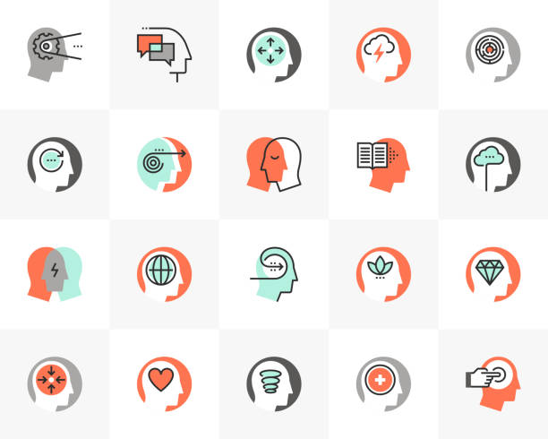 mental process futuro next icons pack - mindfulness stock illustrations