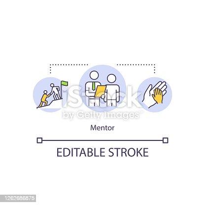 istock Mentor concept icon 1262686875