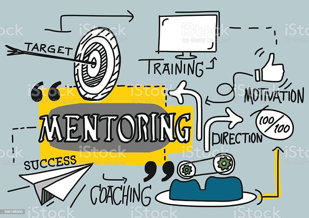 Mentoring Concept vector art illustration