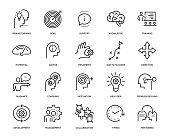 Mentoring Icon Set - Thin Line Series