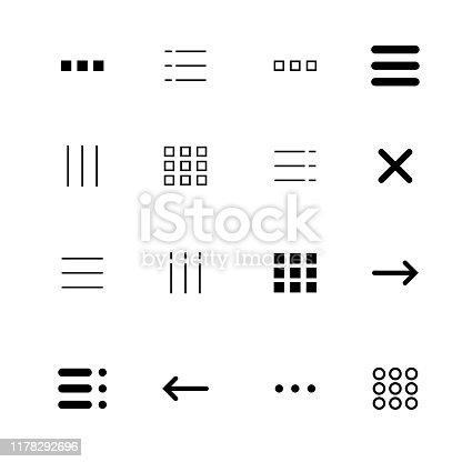 Menu and ui icons set. Vector eps10