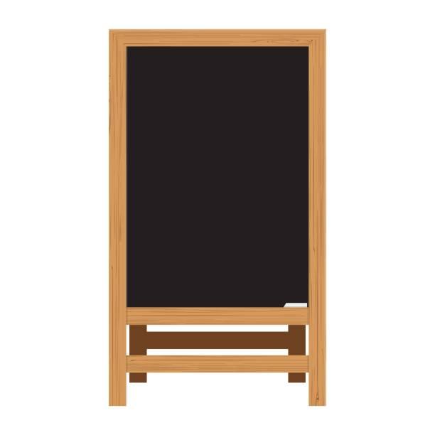 illustrazioni stock, clip art, cartoni animati e icone di tendenza di menu black board. vector illustration - banchi scuola