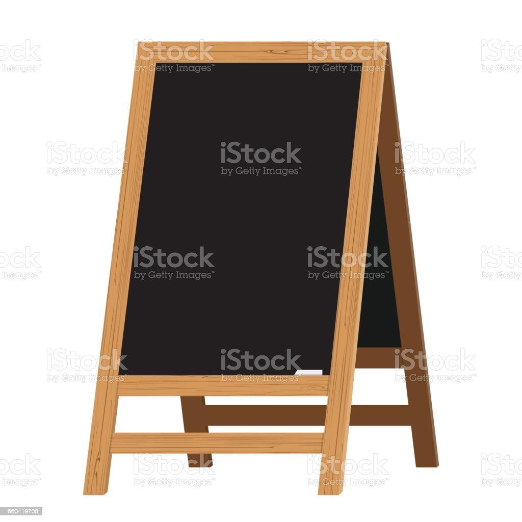 Menu Black Board. Illustration vectorielle - Illustration vectorielle