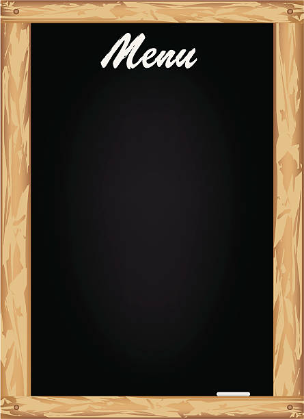 Menu Blackboard vector art illustration