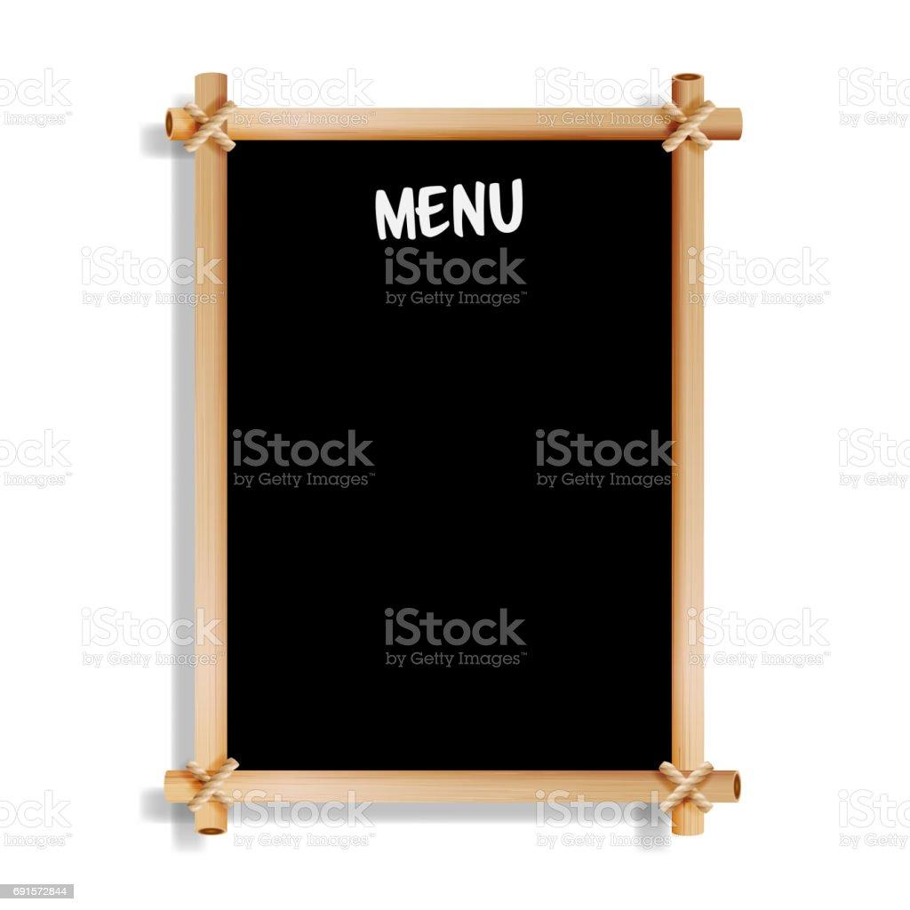 Tableau De Menu Cafe Ou Restaurant Menu Bulletin Black Board Isole Sur Fond Blanc Panneau Noir Realiste Tableau Noir Avec Cadre En Bois Suspendus Illustration Vectorielle Vecteurs Libres De Droits Et Plus