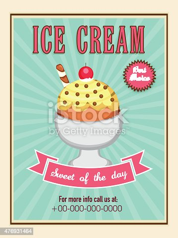Menu Card Design For Ice Cream Stock Vector Art More Images Of