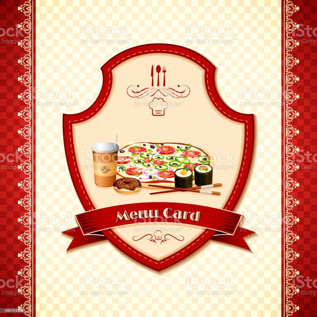 Menu Card royalty-free stock vector art