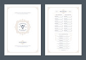 istock Menu design template with cover and restaurant vintage logo vector brochure 1257362880