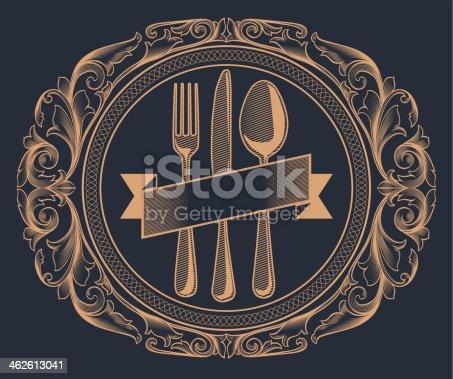 Retro decorative design, layered vector artwork