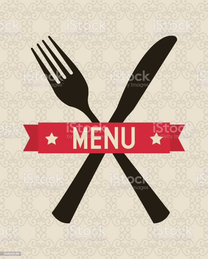 menu design royalty-free stock vector art