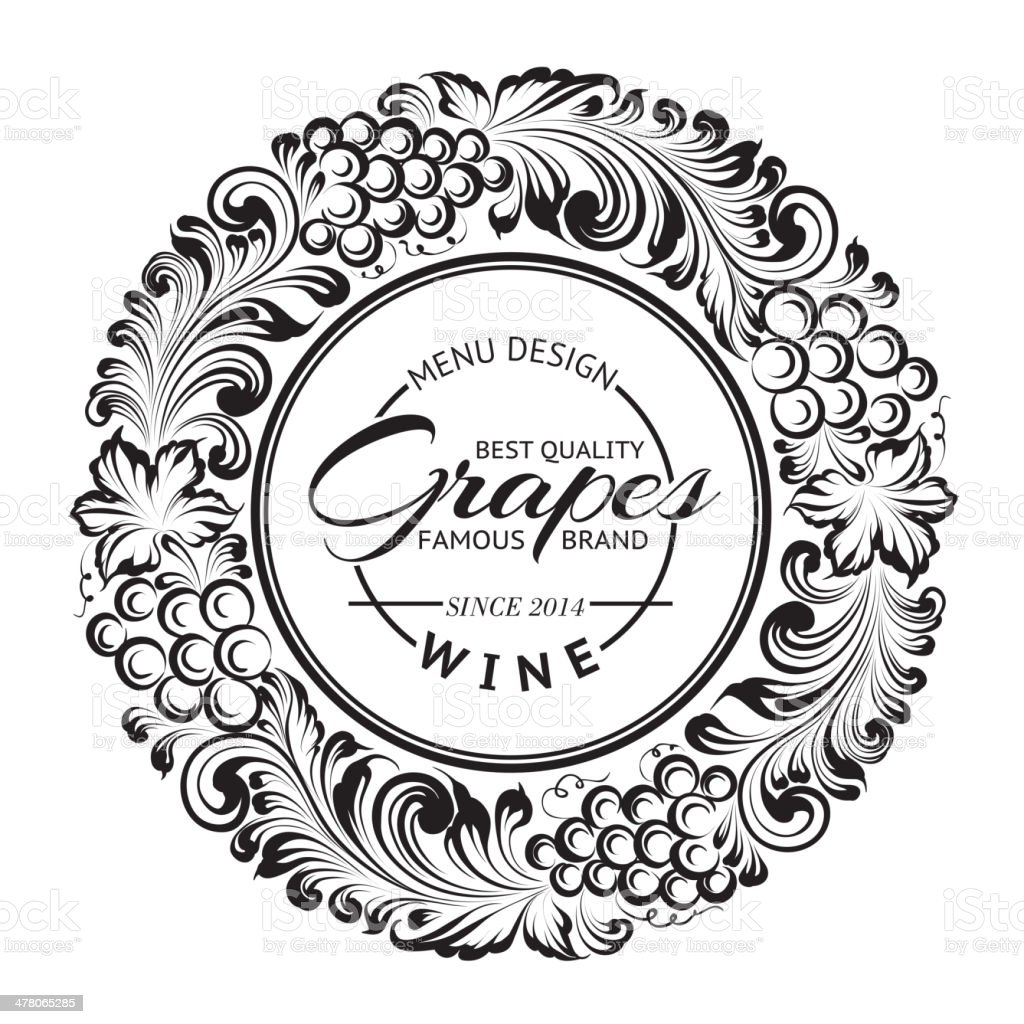 design do Menu com radial quadro. - ilustração de arte em vetor