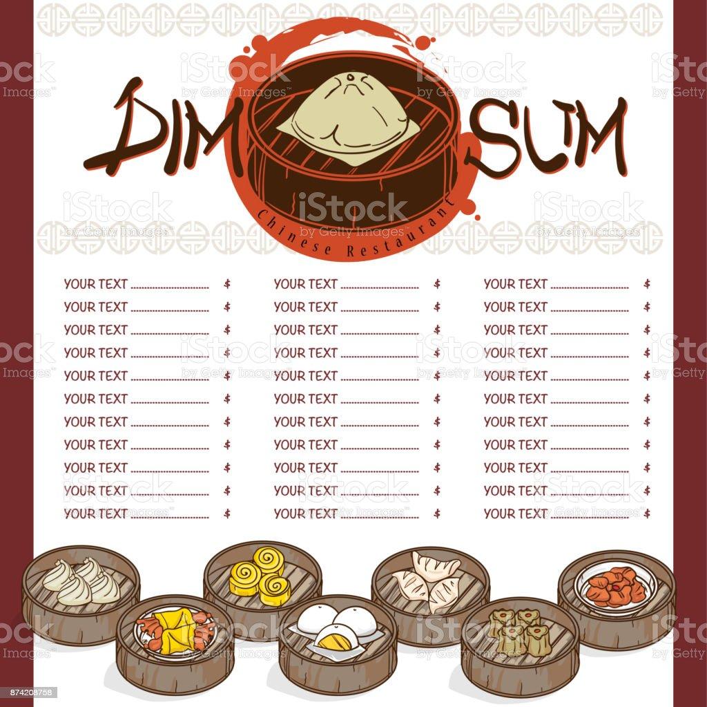 Diseño De Plantilla De Menú Dim Sum Comida China Restaurante ...