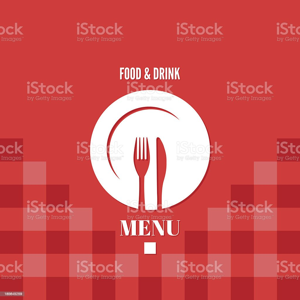 menu food and drink design vector art illustration