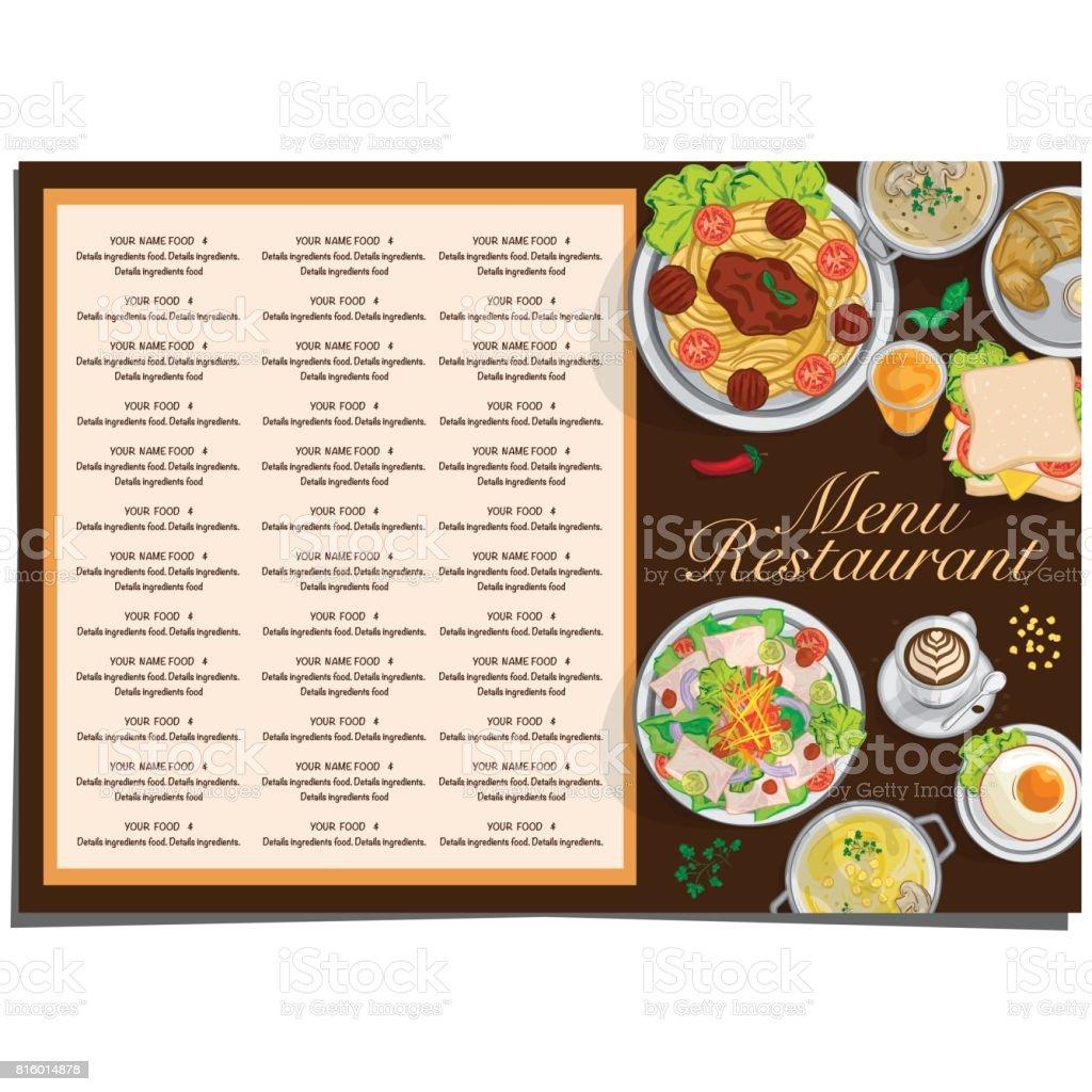 Niedlich Vorlage Für Restaurant Menü Fotos - Entry Level Resume ...