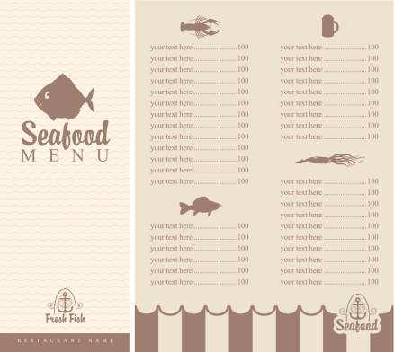 menu for seafood