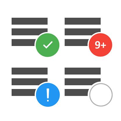 Menu icon for site design. Mobile app interface. Vector ui design.