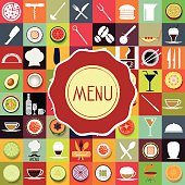 Menu Logo Restaurant Set Collection