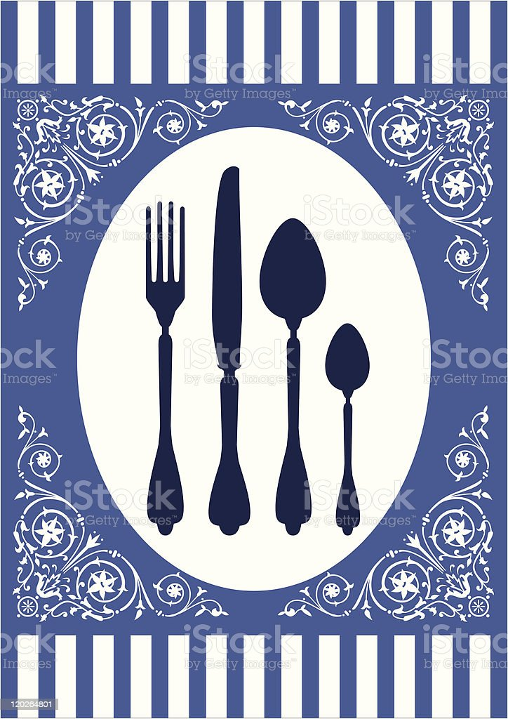 Menu of food card vector art illustration
