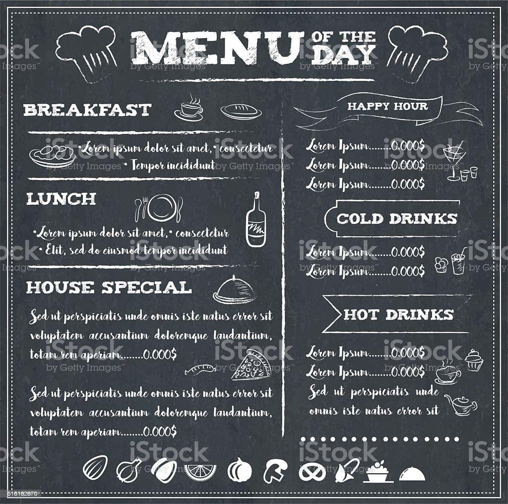 Angebot des Tages - Lizenzfrei Café Vektorgrafik