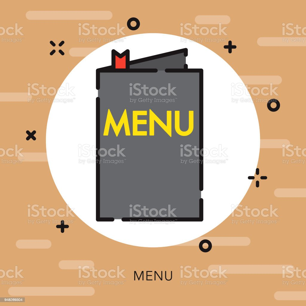 menu open outline coffee tea icon stock vector art more images of