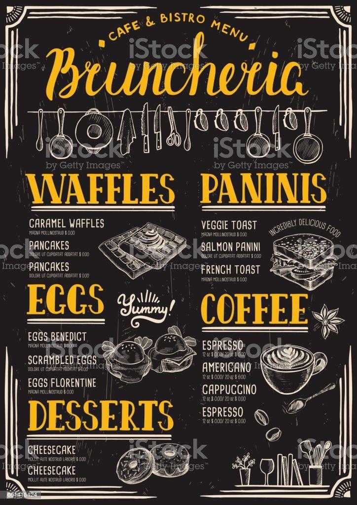 Restaurante menu, modelo de comida. - ilustração de arte em vetor