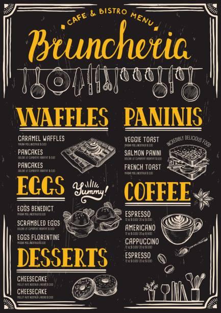 Menu restaurant, food template. vector art illustration