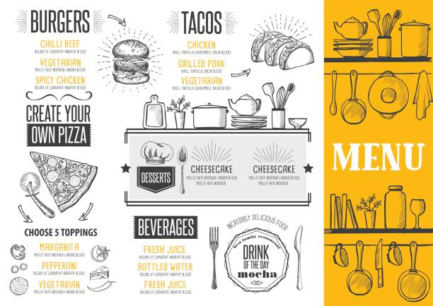 menu restaurant, food template. - スペイン料理点のイラスト素材/クリップアート素材/マンガ素材/アイコン素材