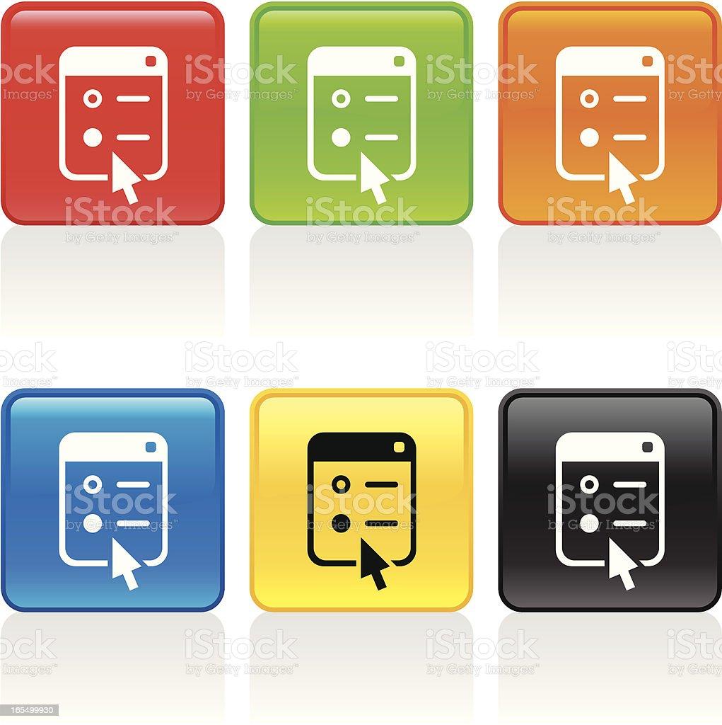 Menu Selected Icon royalty-free menu selected icon stock vector art & more images of arrow symbol
