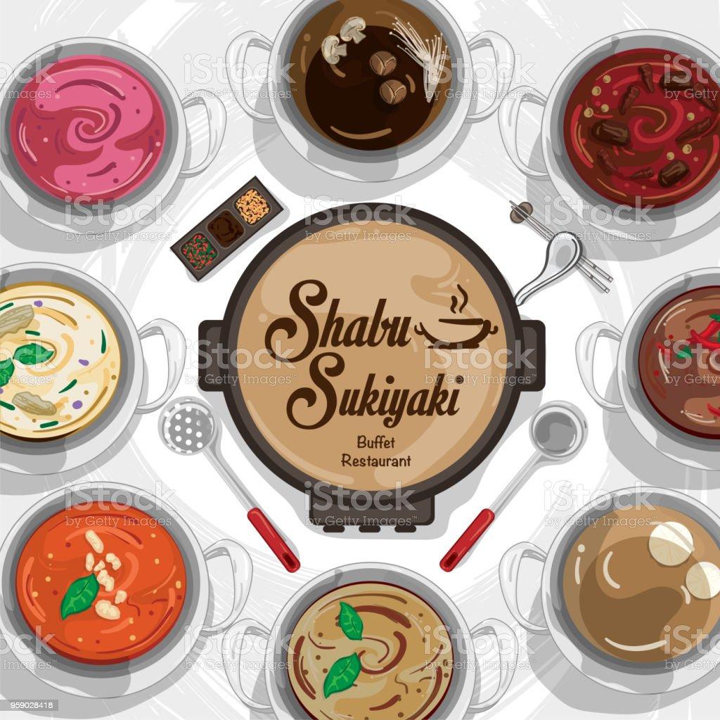 Menu Shabu Sukiyaki Restaurant Template Design Graphic Objects Stock Illustration Download Image Now Istock