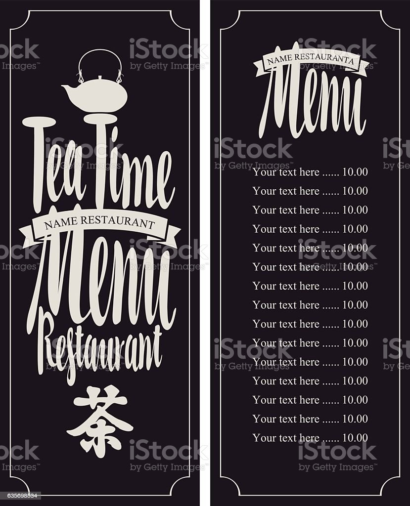 Menu tea with hieroglyph royalty-free menu tea with hieroglyph stock vector art & more images of china - east asia