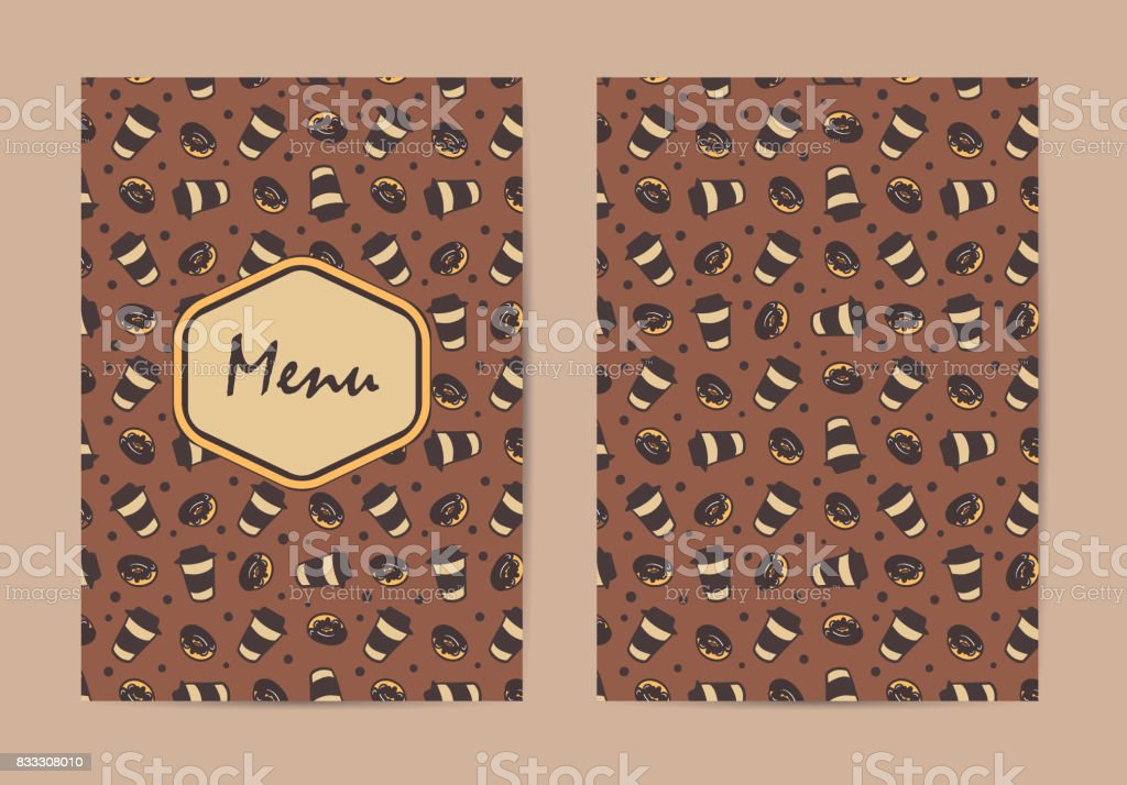 Menu Template Coffee Restaurant Brochure Shop Design Vector Cafe With