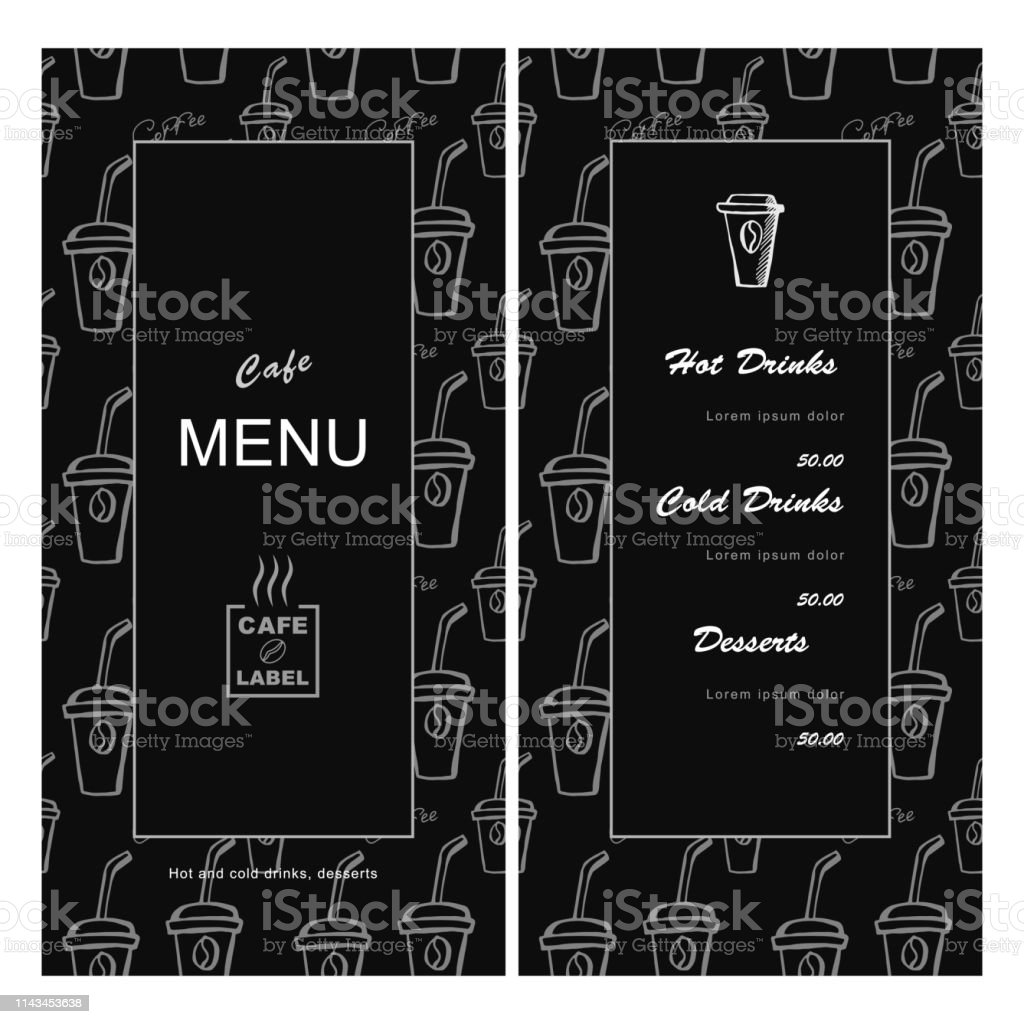 Menu Template For Cafe Coffee House Bar Bistro Stock Vector Art