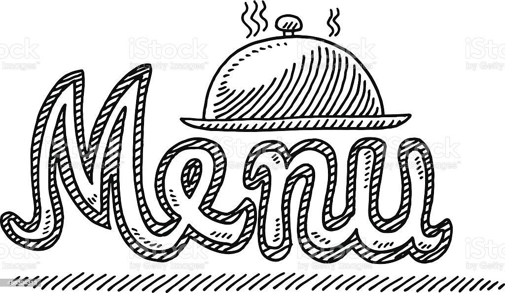 menu text chapeau cloche dessin cliparts vectoriels et plus d 39 images de aliment 488304313 istock. Black Bedroom Furniture Sets. Home Design Ideas
