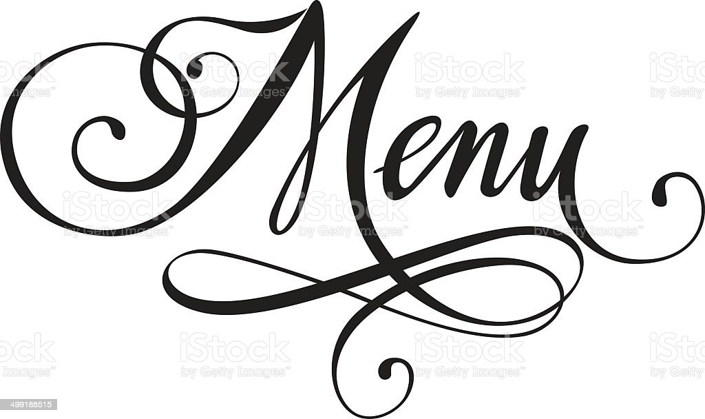 Menu Stock Vector Art More Images Of Black And White 499188515