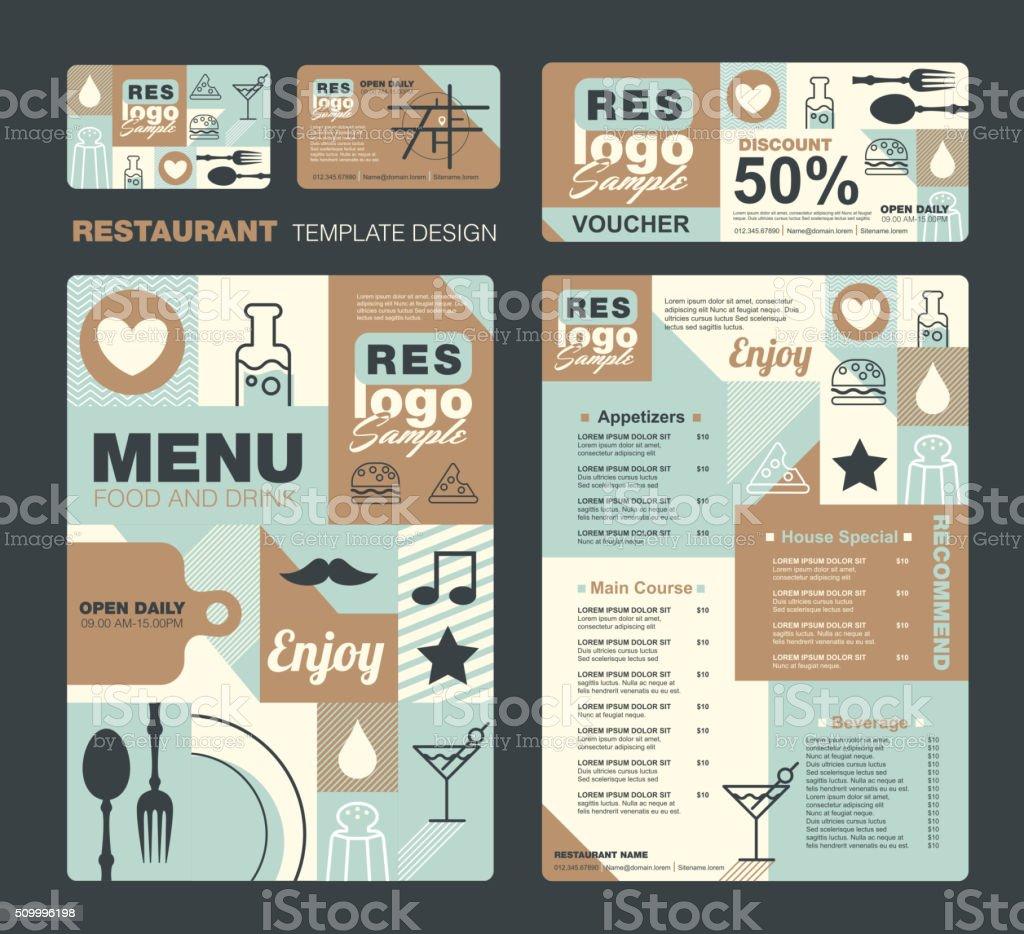 menu vector art illustration