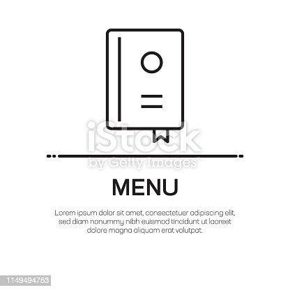 Menu Vector Line Icon - Simple Thin Line Icon, Premium Quality Design Element