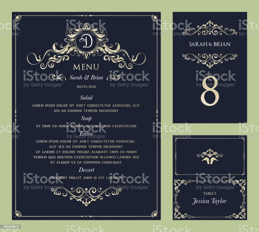 Menu_Set_02 vector art illustration